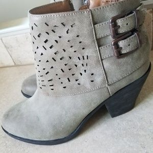 Dark green booties